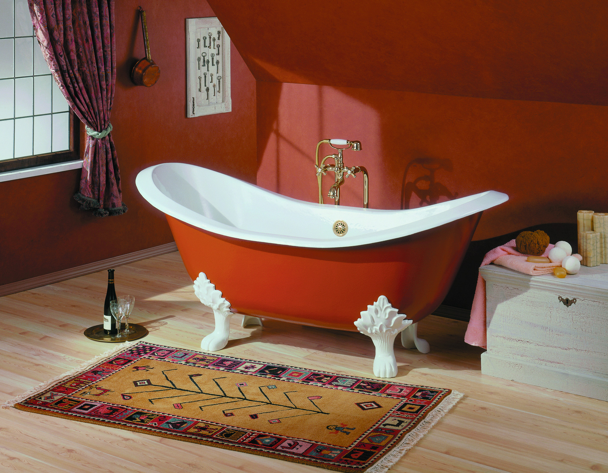 Cheviot 2167-BB-..-6 Regency Cast Iron Bathtub with Lion Feet and 6 Inch Drilling