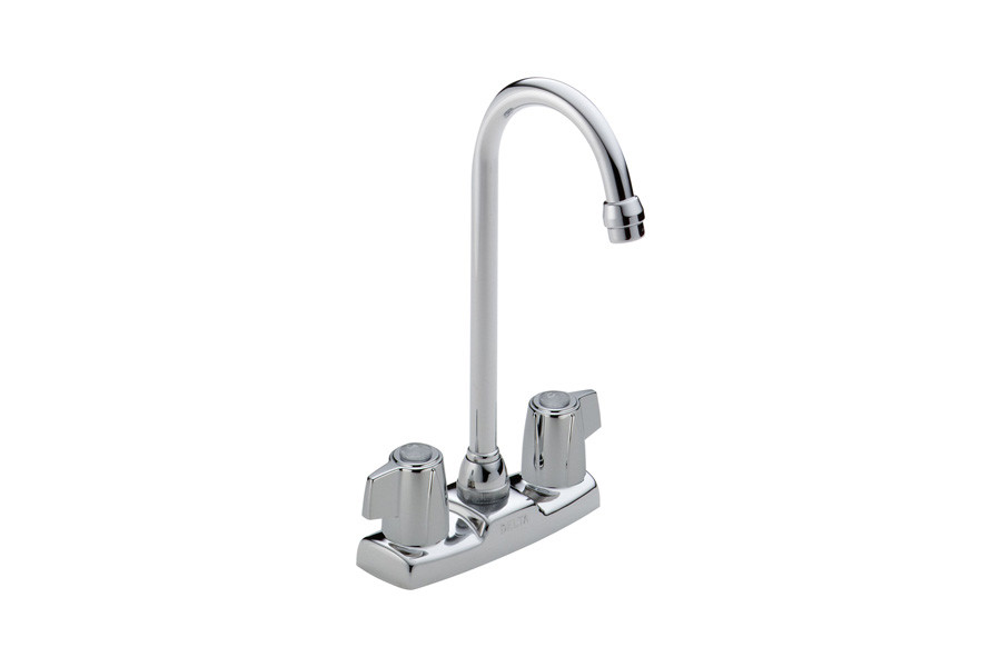 DELTA 2171LF Classic Centerset Two Handle Blade Bar/Prep Faucet in Chrome