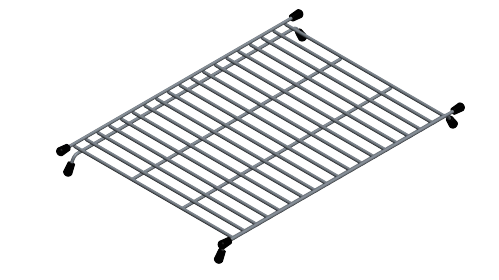 Blanco 233542 Stainless Steel Precis Floating Sink Grid With Protective Bumpers