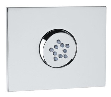 Rohl 24960APC 1-Hole Flat Panel Rectangular Swivel Body Spray with 10 Jets in Polished Chrome