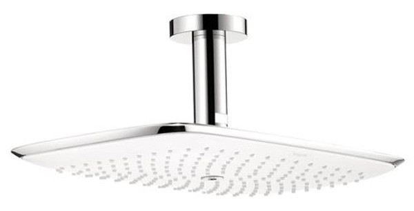 PuraVida 400 Air Showerhead with Ceiling Mount In Polished Chrome
