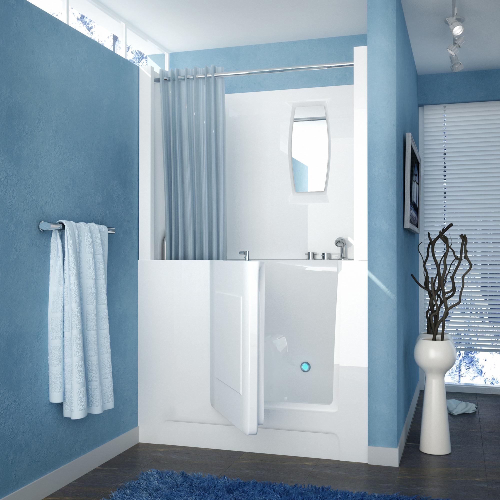 MediTub 2747RWS Walk-In 27 x 47 Right Drain White Soaking Bathtub