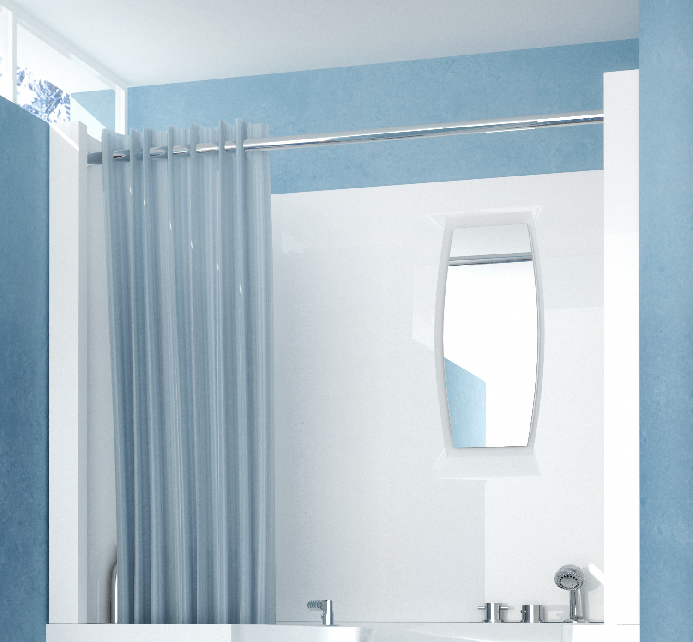 MediTub 2747SEN Shower Enclosure 3-Piece Walk-In Bathtub Surround in White