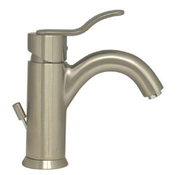 Whitehaus 3-04012 Single Hole Deck Mount Lever Galleryhaus Bathroom Faucet - Brushed Nickel