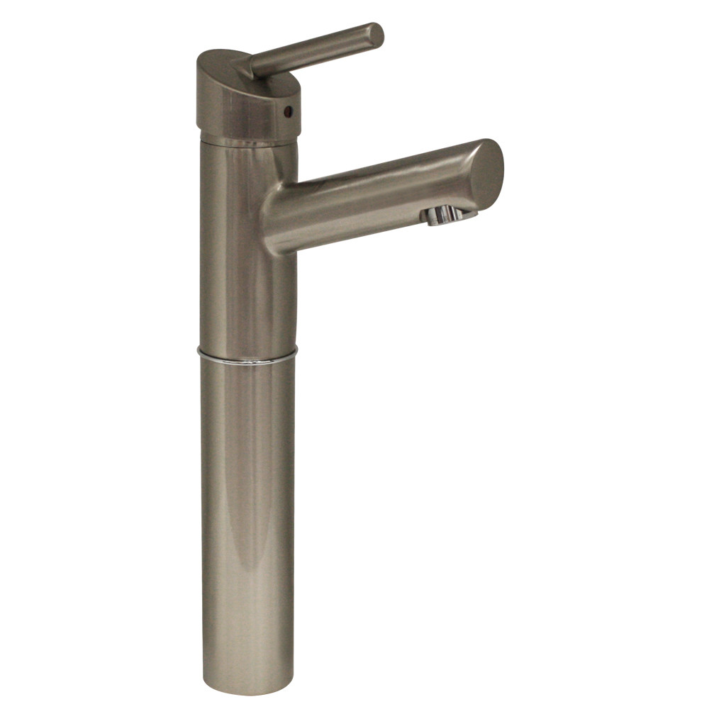 Whitehaus 3-3245-BN Centurion Single Hole Elevated Lavatory Faucet in Brushed Nickel