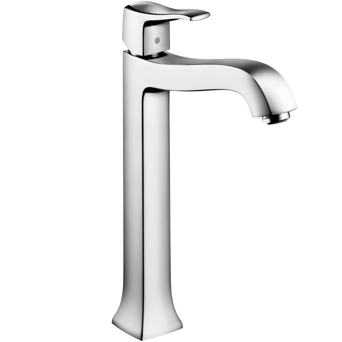 hansgrohe 31078001 Metris C Faucet Tall in Chrome with Pop-Up Drain