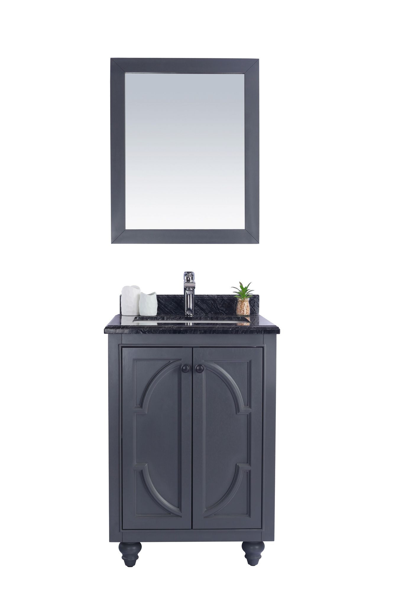 Laviva 313613-24-BW Odyssey 24 Inch Maple Vanity With Black Wood Counter