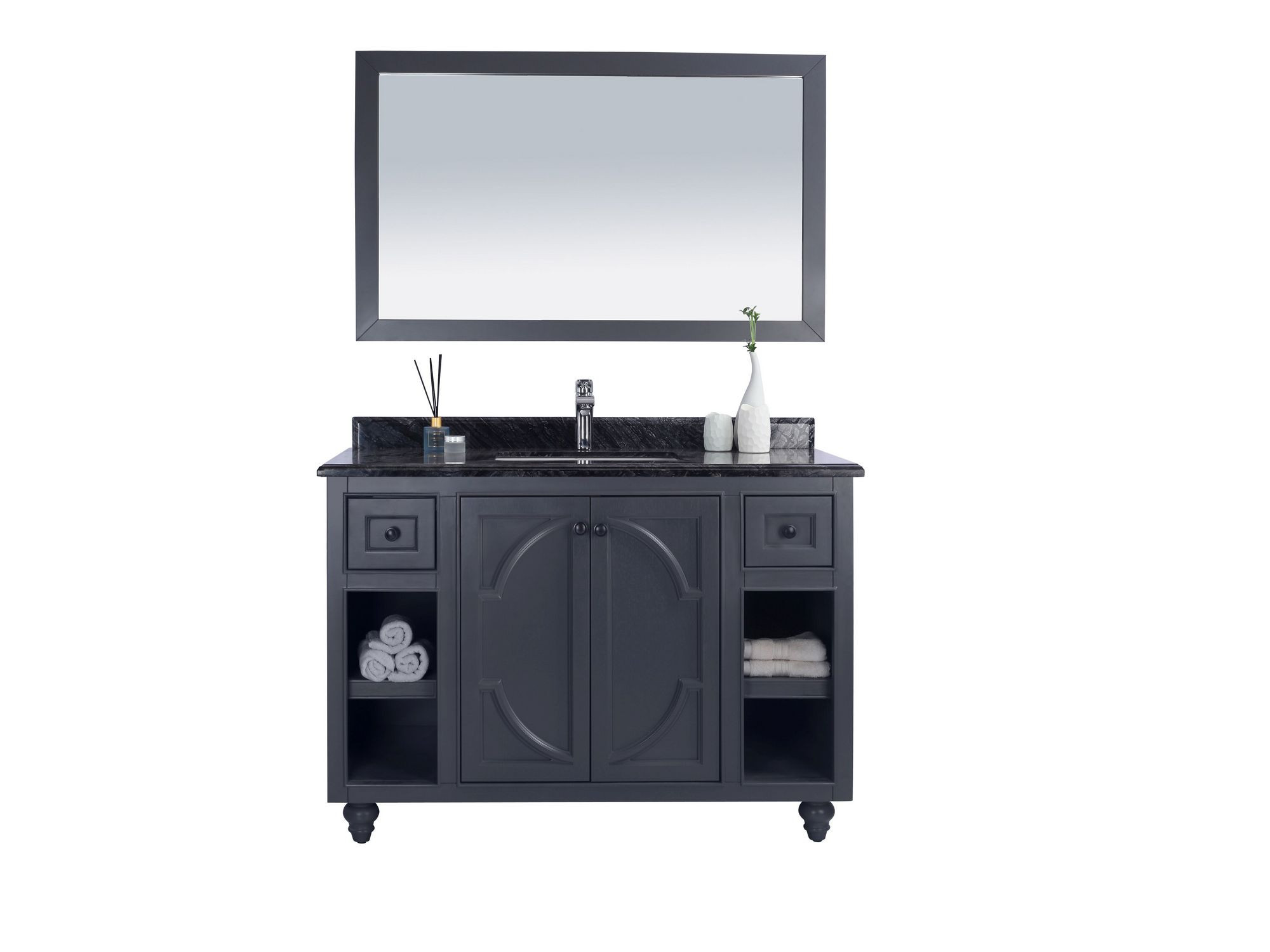 Laviva 313613-48-BW Odyssey 48 Inch Maple Vanity With Black Wood Counter