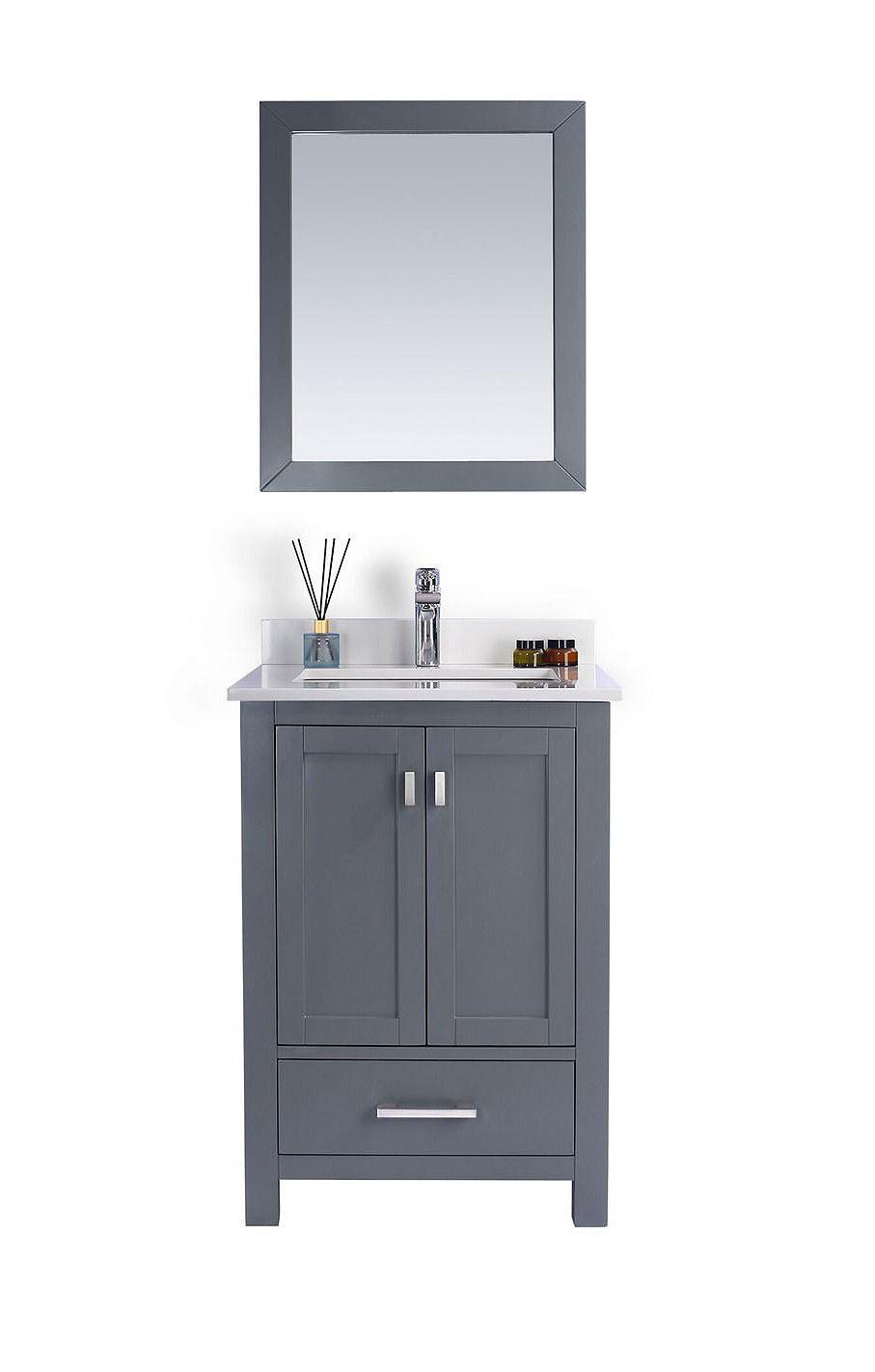 Laviva 313ANG-24-WQ Wilson 24 Inch Vanity With White Quartz Countertop