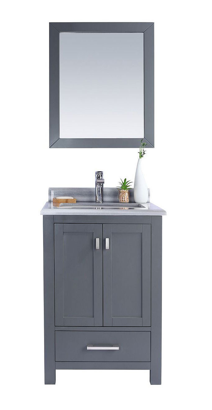 Laviva 313ANG-24-WS Wilson 24 Inch Vanity With White Stripe Countertop