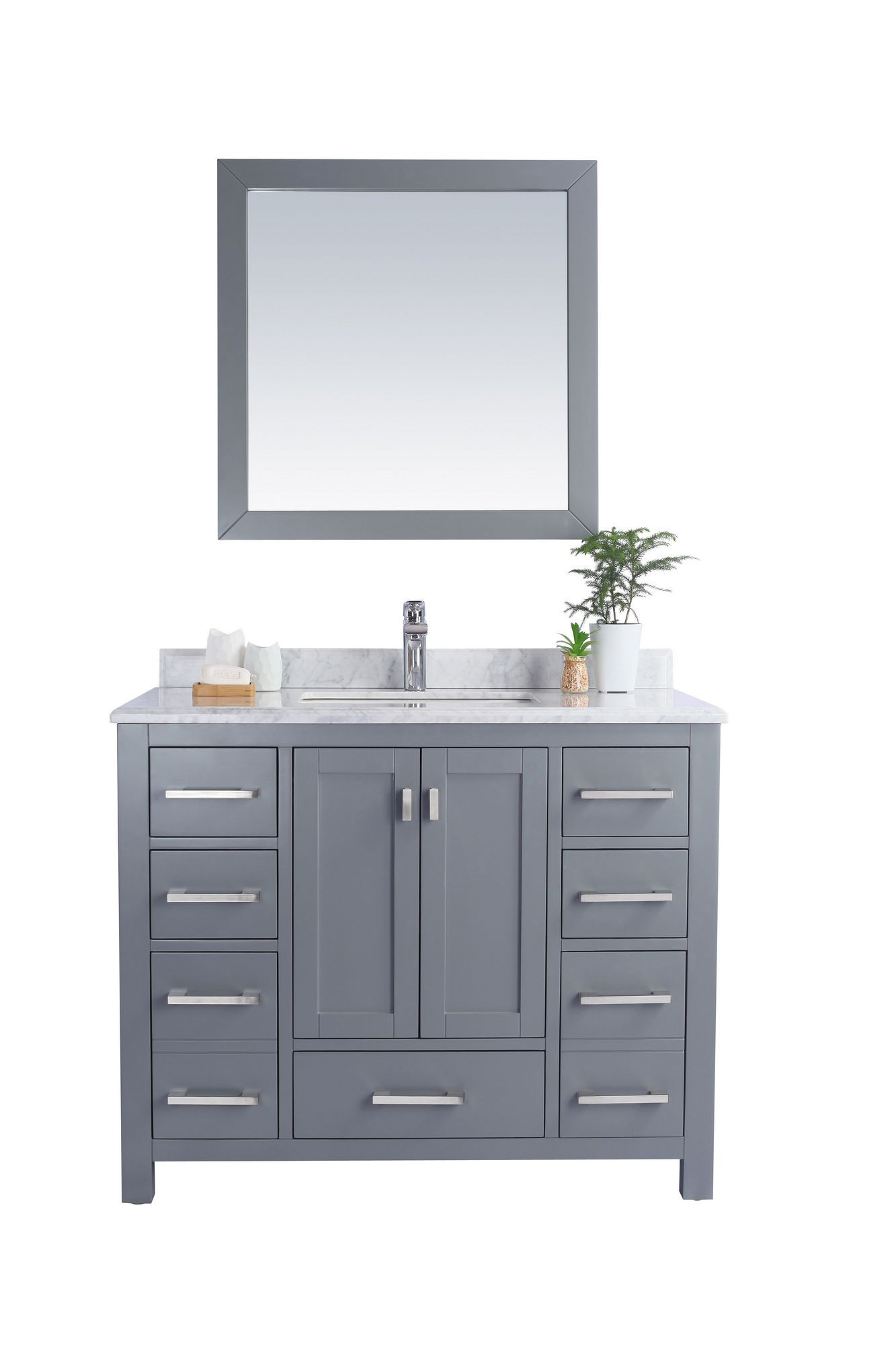 Laviva 313ANG-42-WC Wilson 42 Collection Vanity w/ White Carrara Countertop