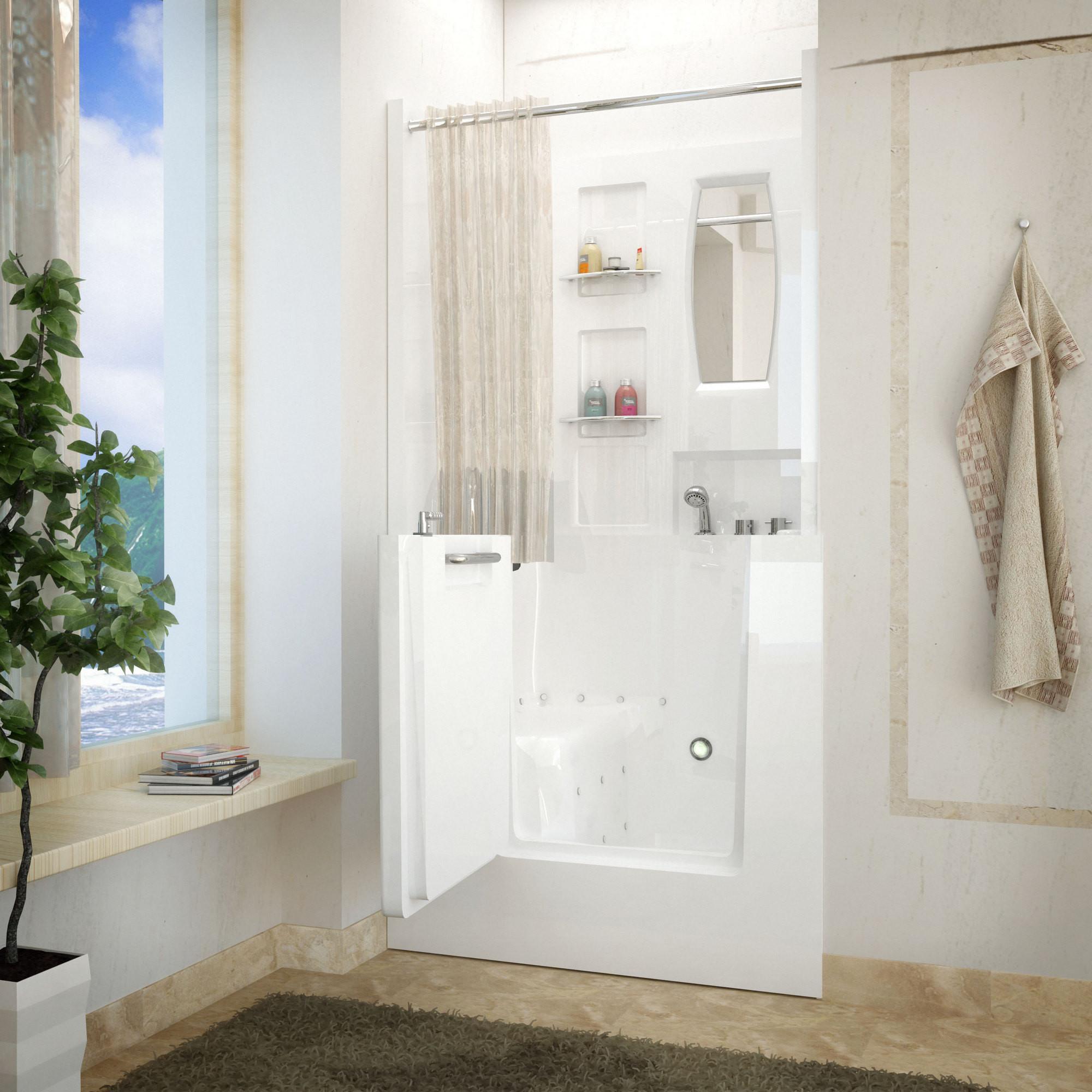 MediTub 3140RWA Walk-In 31 x 40 Right Drain White Air Jetted Bathtub