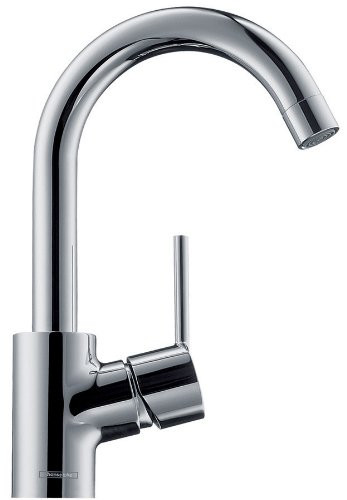 hansgrohe 32070001 Talis S Single Hole Faucet High Swing Spout in Chrome