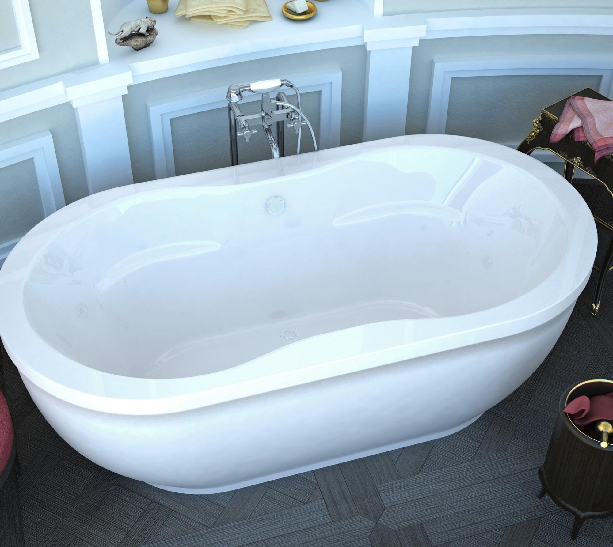 MediTub 3471AS Atlantis Embrace 34 x 71 Oval Freestanding Soaker Bathtub