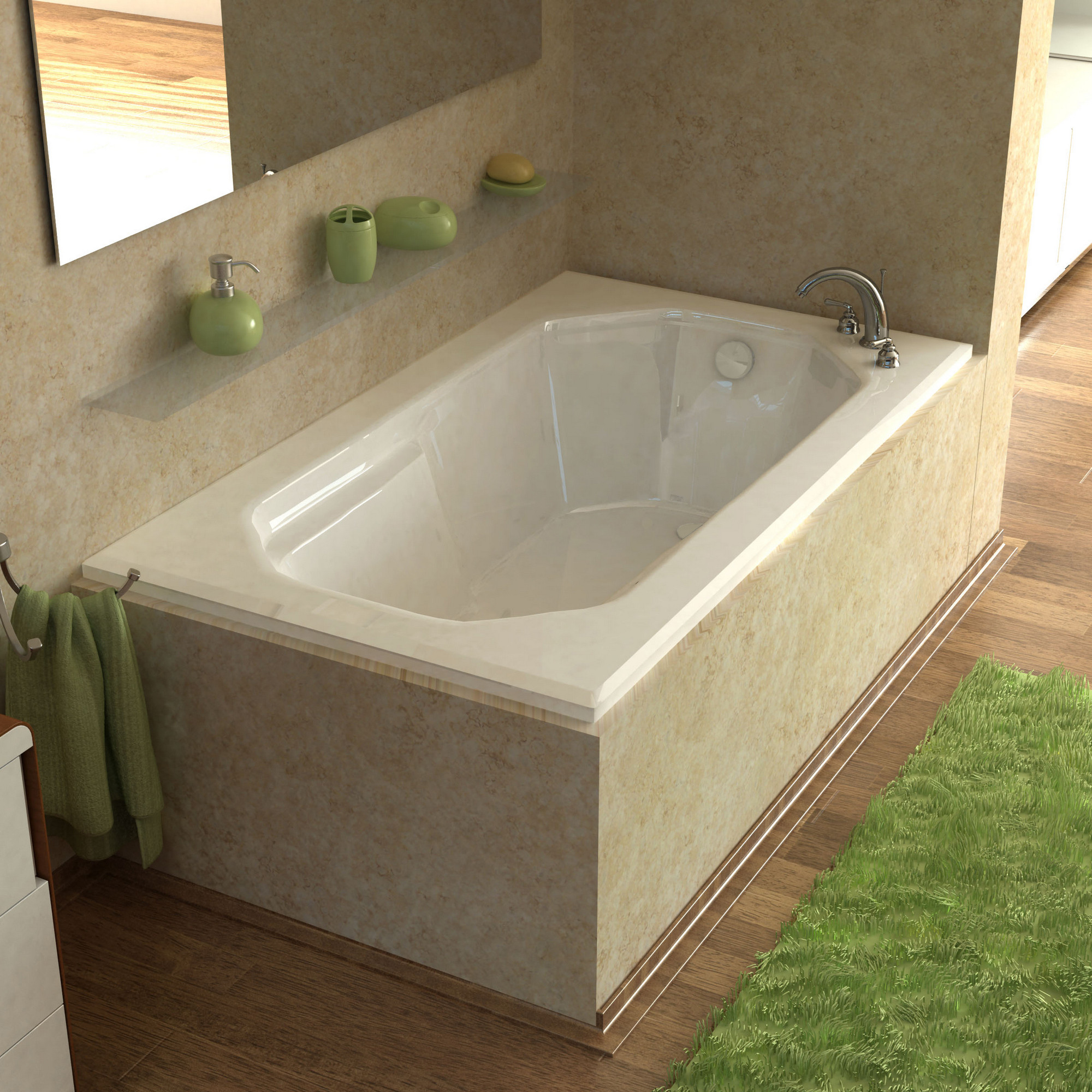 MediTub 3660M Atlantis Mirage 36 x 60 Rectangular Drop In Soaking Bathtub