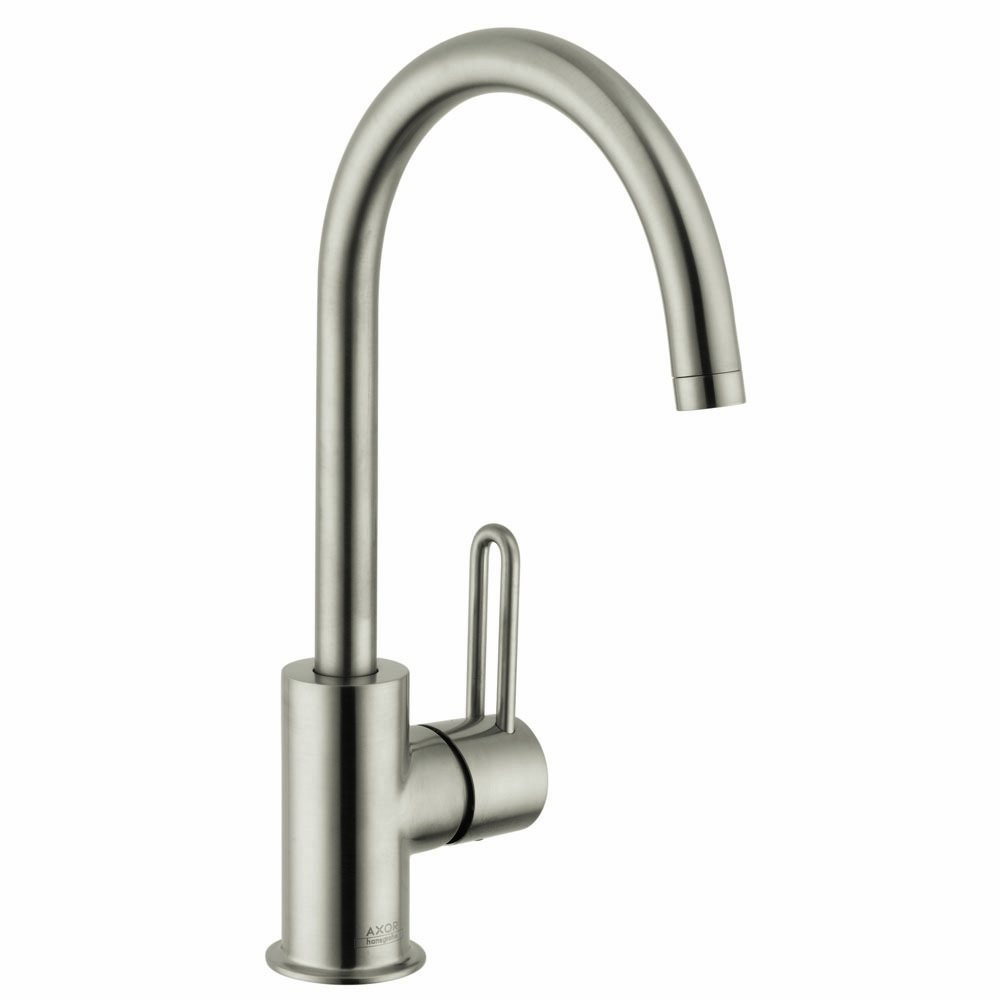 AXOR 38030 Bathroom Single Hole Faucet with Lever Handle and High Arc Spout