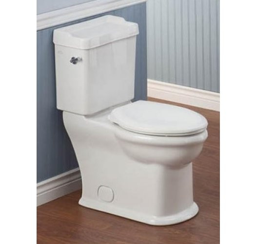 Cheviot 382-WH ANTIQUE High Efficiency Elongated Toilet in White Finish