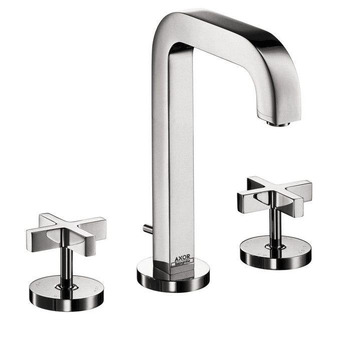 AXOR 39133001 Citterio Widespread Faucet with Cross Handle in Chrome