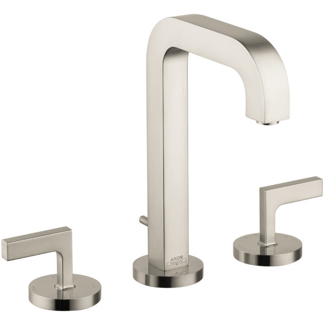 AXOR 39135821 Citterio Brushed Nickel Widespread Faucet with Lever Handle