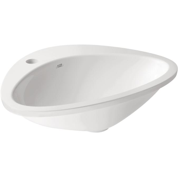 AXOR 42310000 AX Massaud Modern Single Bowl Drop In Oval Bathroom Sink