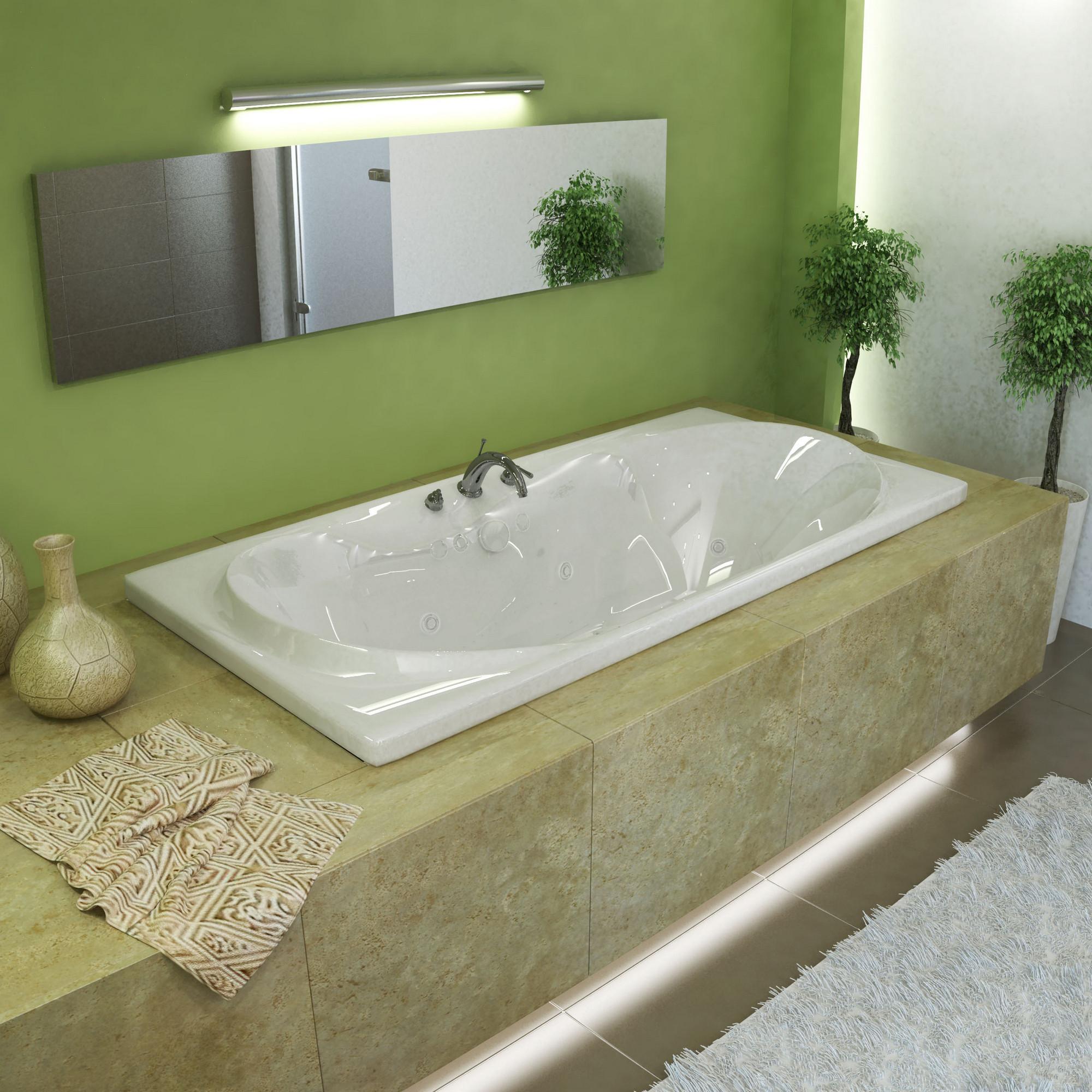 MediTub 4272WDR Atlantis Whisper Air & Whirlpool Bathtub With Right Pump
