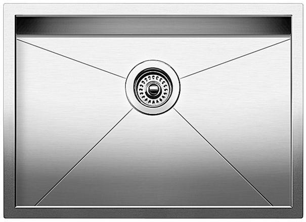 Blanco 442079 Quatrus Single Bowl Undermount Stainless Steel Kitchen Sink in Satin