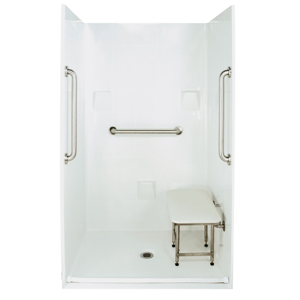 Ella's Bubbles 4836 BF 4P .875 C-WH SP24 Barrier Free Roll In Shower System