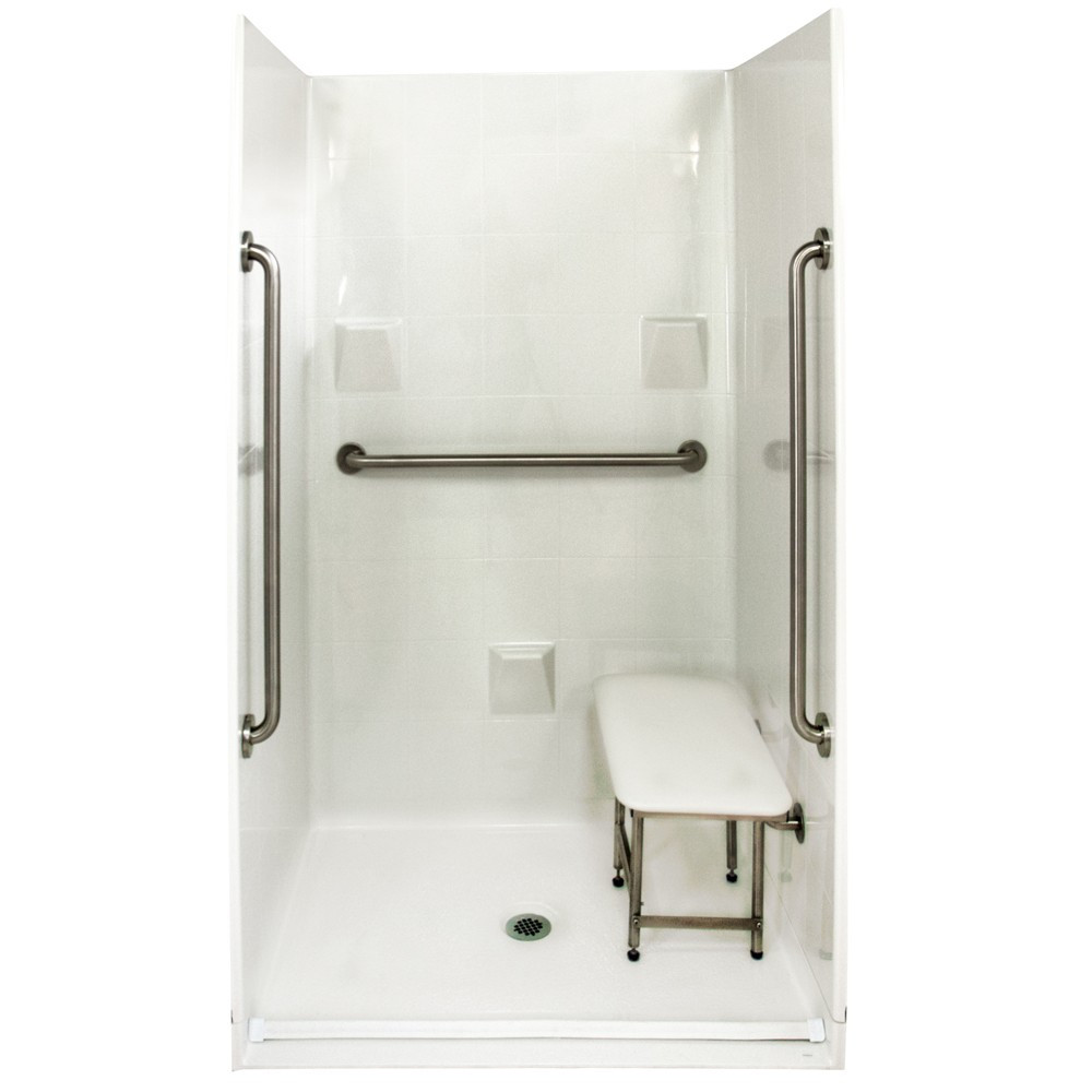 Ella's Bubbles 4836 BF 4P .875 C-WH SP36 Barrier Free Roll In Shower System