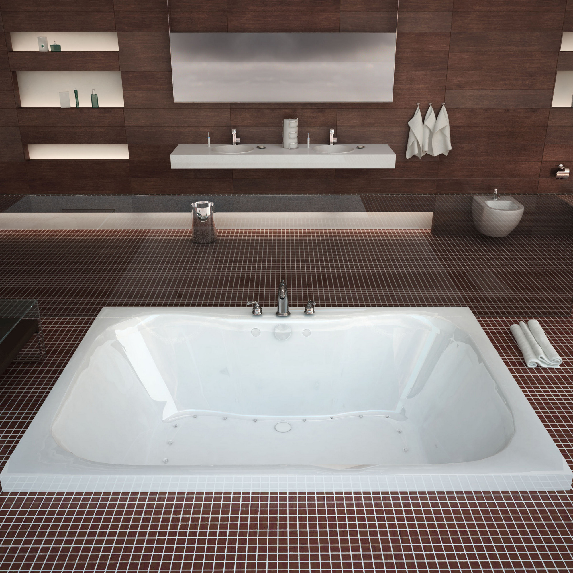 MediTub 4860NAL Atlantis Neptune Air Jetted Bathtub With Left Blower