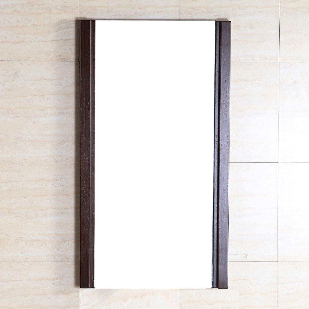 Bellaterra Home 500137-MIR Wenge Birch Wood Frame Bathroom Mirror