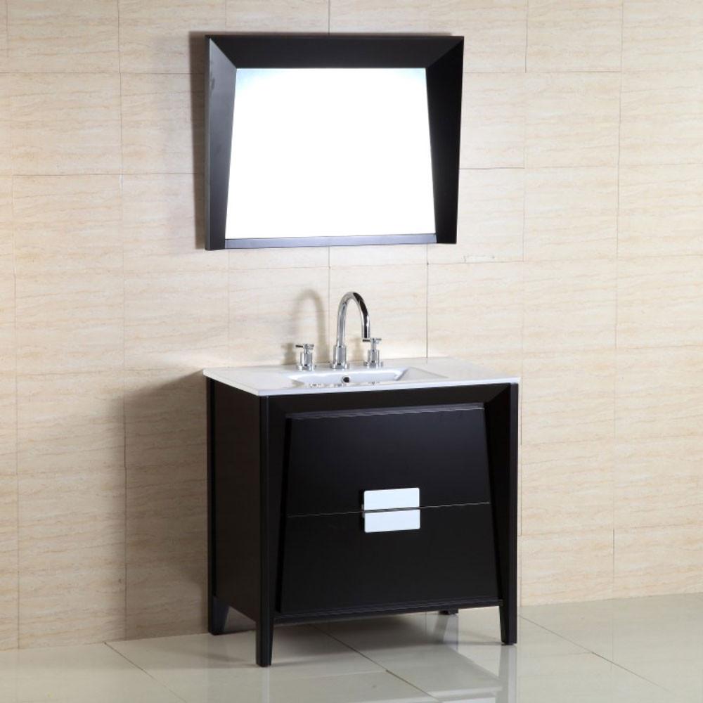 Bellaterra Home 500410-ES-WH-36 36-Inch Single Sink Vanity With Ceramic Top