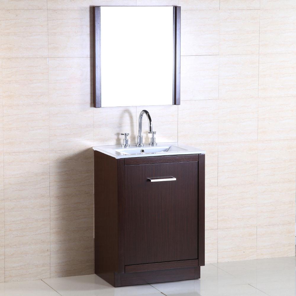 Bellaterra Home 502001A-24 24-Inch Single Sink Vanity In Wenge