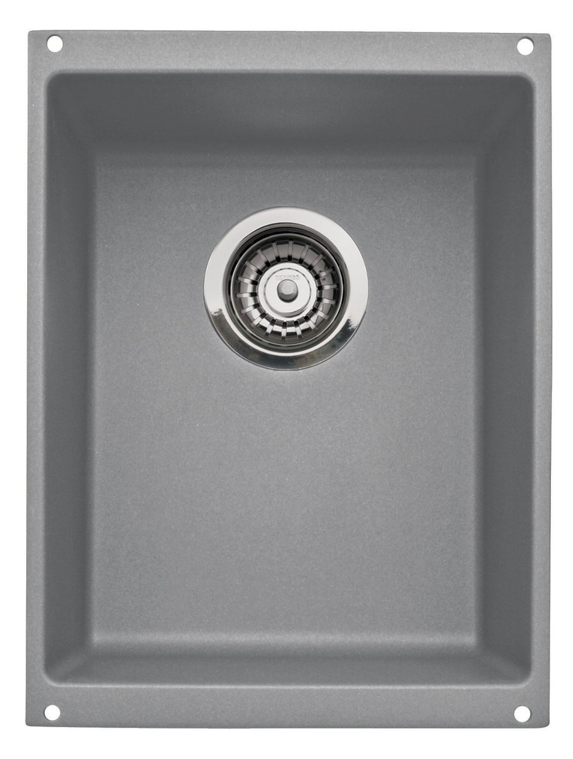 Blanco 513425 Precis Medium Rectangular Single Bowl Undermount Kitchen Sink in Metallic Gray