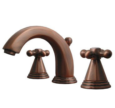 Whitehaus 514.141WS Widespread Deck Mount Three Holes Lever Bathroom Faucet