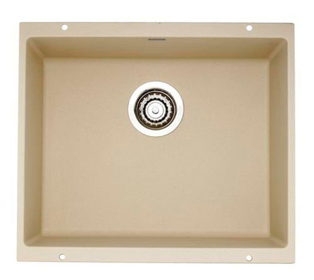 Blanco 517109 Precis Granite Large Single Bowl Undermount Kitchen Sink in Biscotti