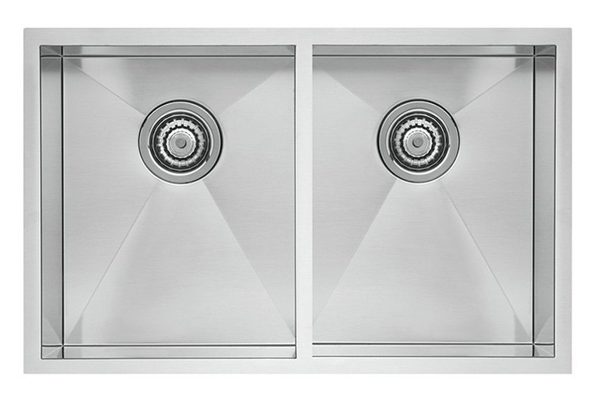Blanco 518170 Quatrus Stainless Steel R0 Equal Double Bowl Kitchen Sink in Satin