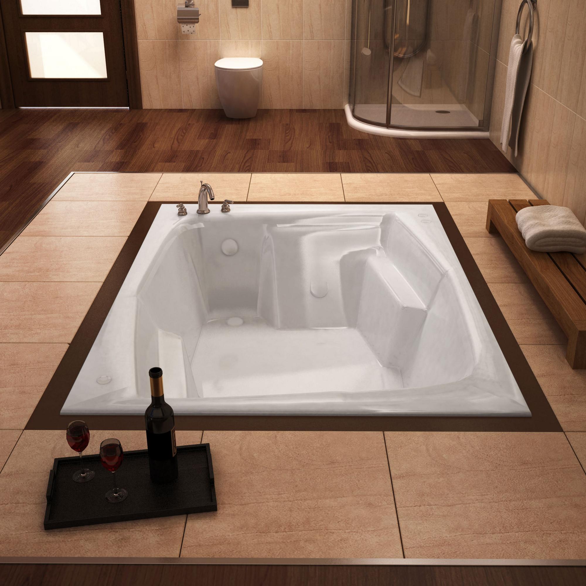 MediTub 5472C Atlantis Caresse Rectangular Acrylic Soaking Bathtub