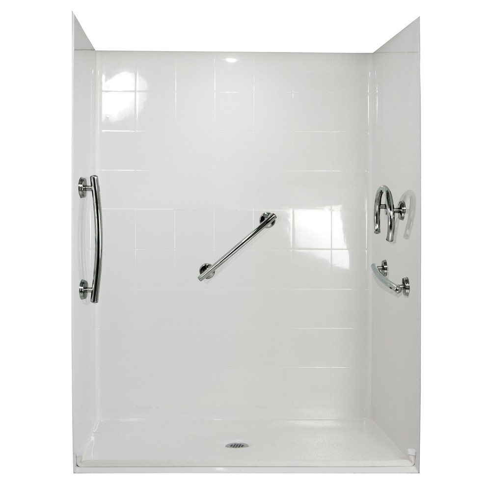Ella's Bubbles 6030 BF 5P .75 C-WH FRDM Barrier Free Roll In Shower System