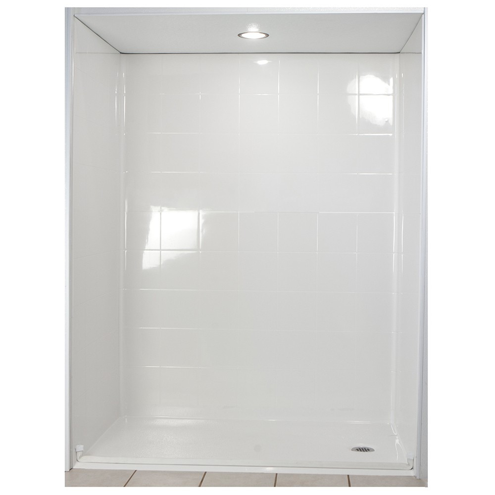 Ella's Bubbles 6030 BF 5P 1.0 R-WH STD Standard Roll In Shower System