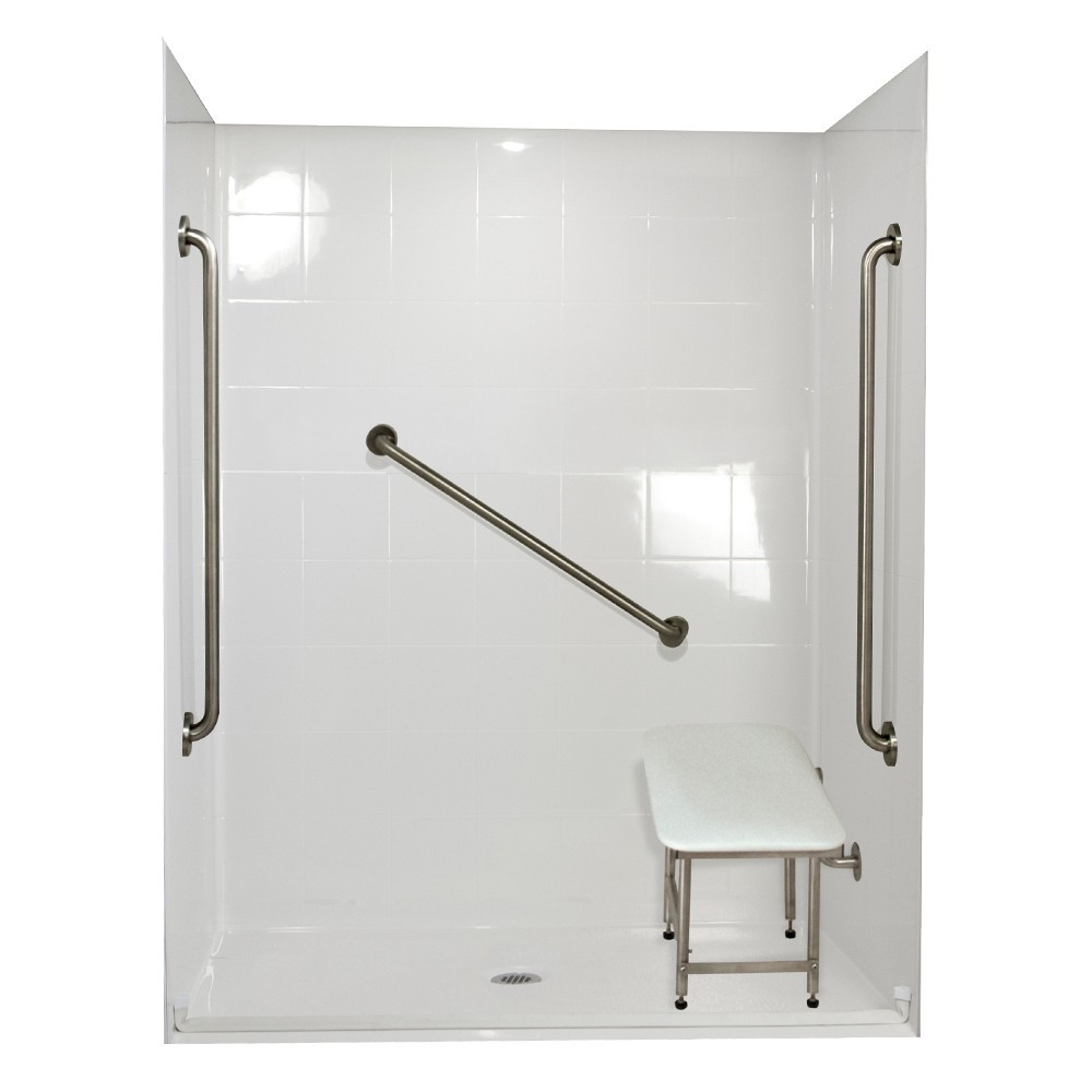 Ella's Bubbles 6033 BF 5P .75 C-WH SP36 Standard Plus Roll In Shower System