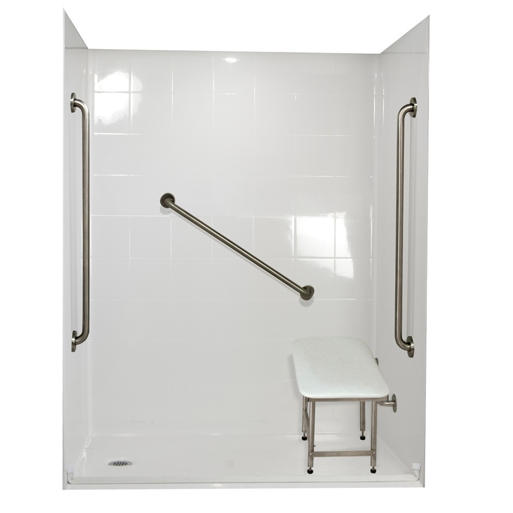 Ella's Bubbles 6036 BF 5P 1.0 L-WH SP36 Standard Plus Roll In Shower System