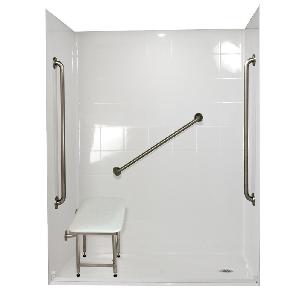 Ella's Bubbles 6036 BF 5P 1.0 R-WH SP36 Standard Plus Roll In Shower System