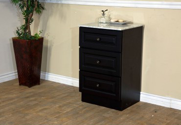 Bellaterra Home 605523 Dark Mahogany 20 Inch Wood Cabinet with Marble Top
