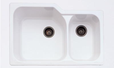 Rohl 6337 Allia 33'' 2 Bowl Undermount Fireclay Sink