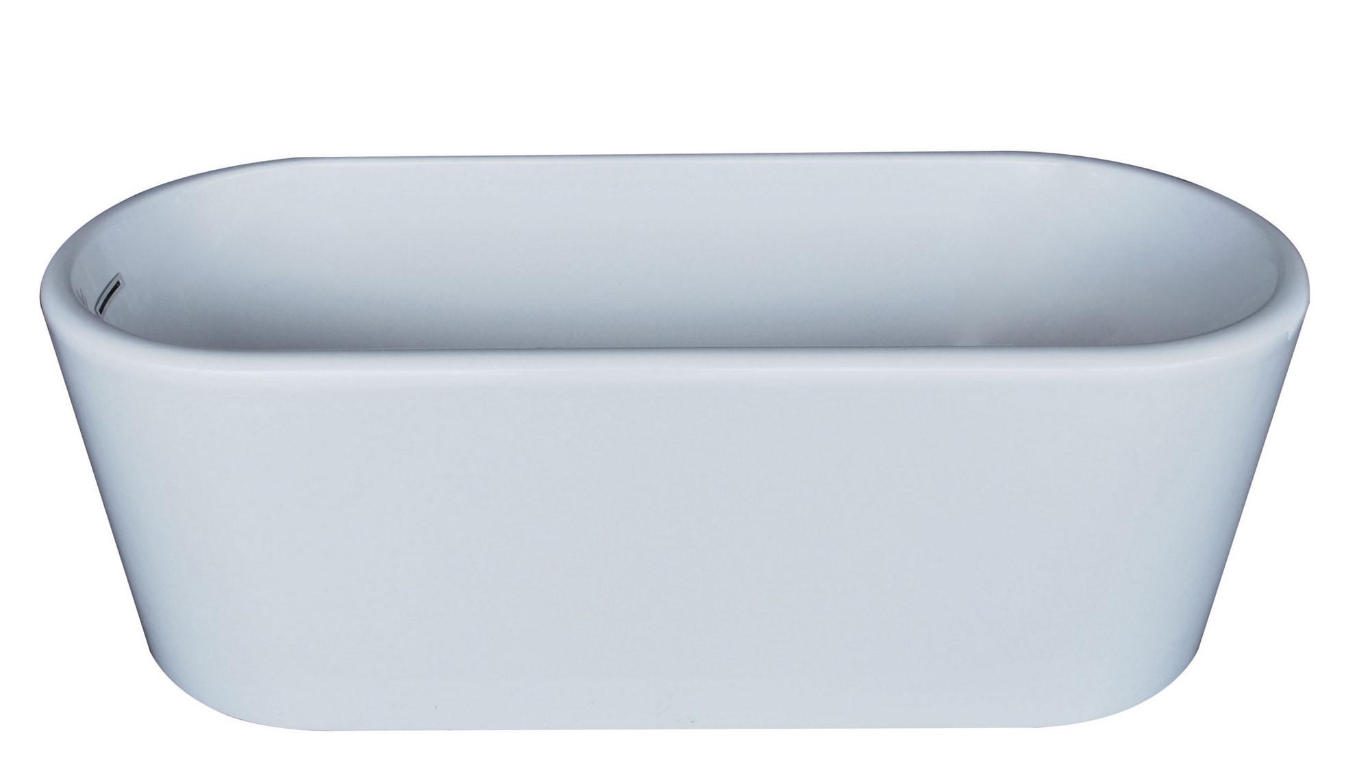 MediTub 6728ENSXCWXX Atlantis Whirlpools Enza 28 x 67 Oval Acrylic Bathtub
