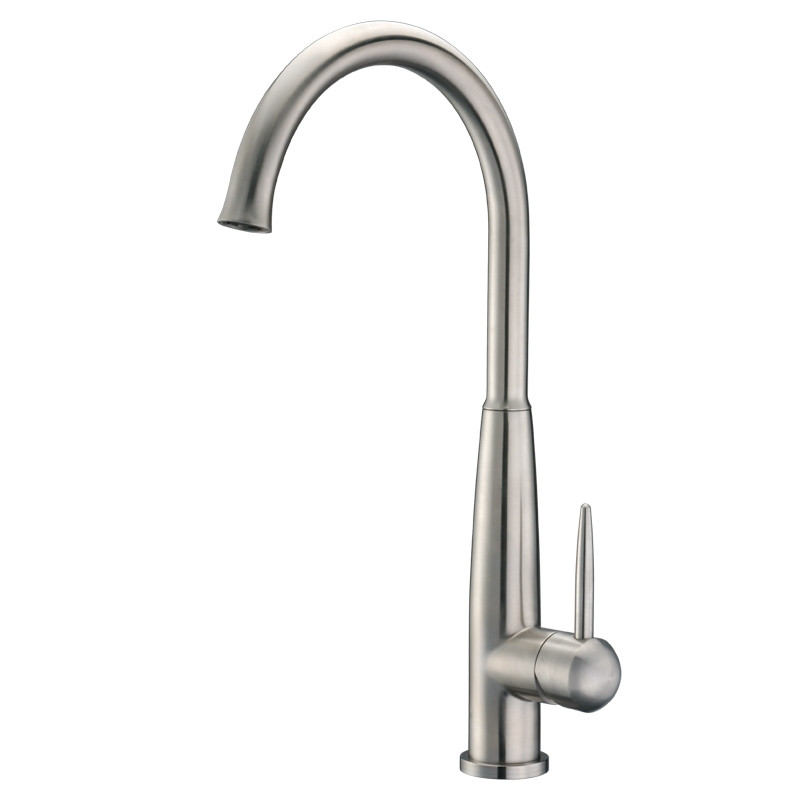 Cadell 70500 Brushed Stainless Steel Single Lever Handle Kitchen Faucet
