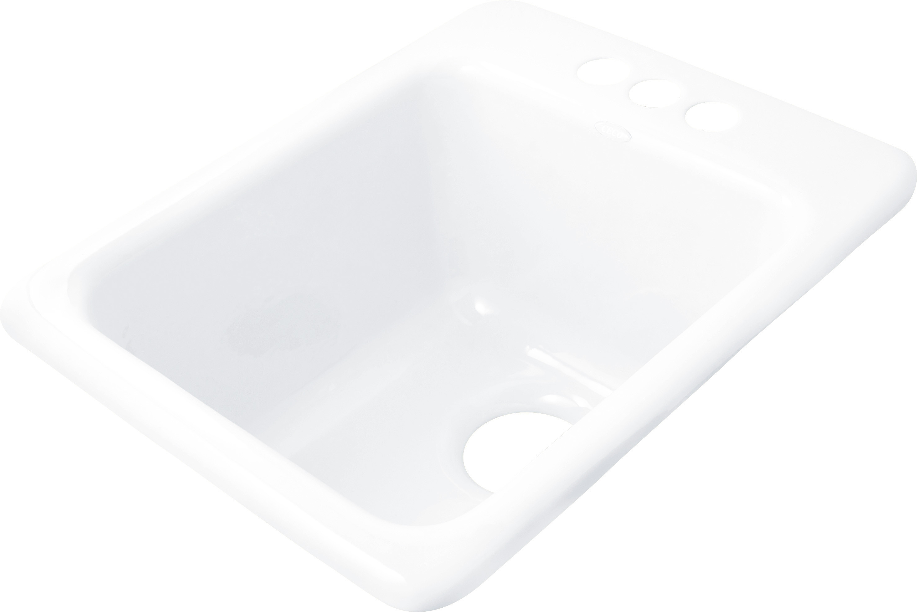 CECO 729-4 Bar or Island 16'' x 20'' x 9'' Heavy Cast Iron Self-Rimming Sink