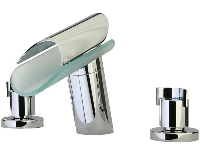 Polished Chrome LaToscana 73CR102VR 3 Hole Deck Mount Roman Tub Faucet