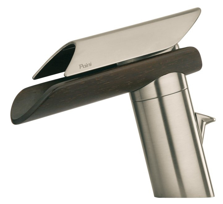 Brushed Nickel/Wenge Spout LaToscana 73PW211LZ Single Control Bath Faucet