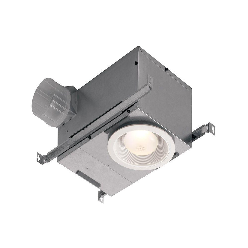Broan 744FL Recessed Ceiling Mount Exhaust Fan with Light - ENERGY STAR*